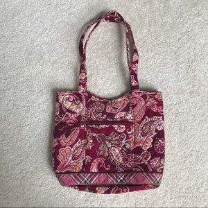 Vera Bradley Quilted Bucket Tote - Piccadilly Plum